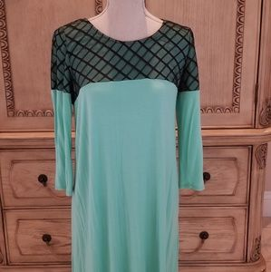 Maternity Mint and black top